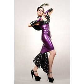 Kitten In The Night Latex Dress
