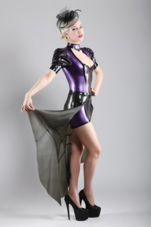 Luciana Latex Wrap Skirt