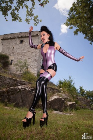 Carolyn Latex Strümpfe