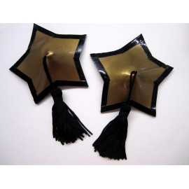 Star Latex Pasties with Tassels and Trim