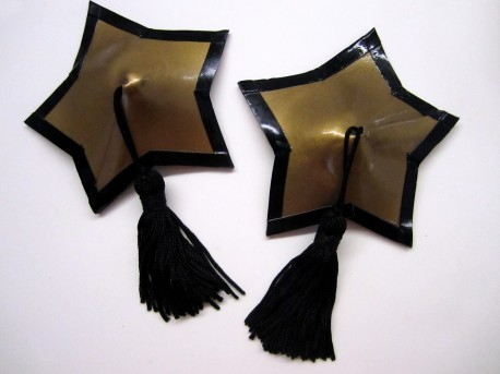 Sternförmige Latex-Pasties mit Tassels