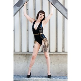 Fringed Latex Leotard
