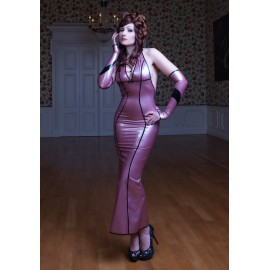 Lady Floret Latex Kleid