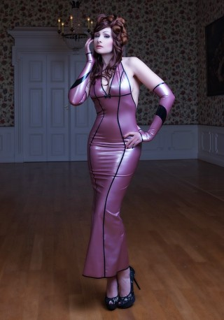 Lady Floret Latex Gown