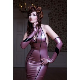 Lady Floret Latex Arm Gauntlets