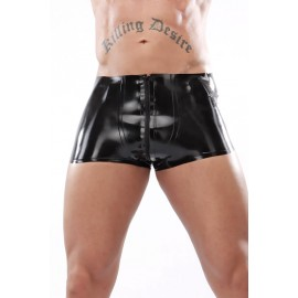 Basic Latex Shorts with Zipper