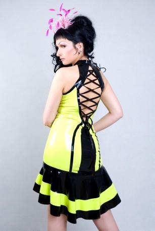 Maja Latex Kleid