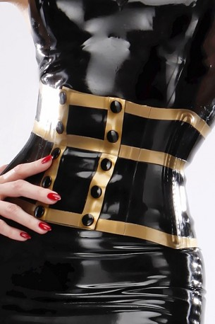 Waspie Wide Latex Waist Belt