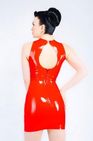 Keyhole Latex Kleid