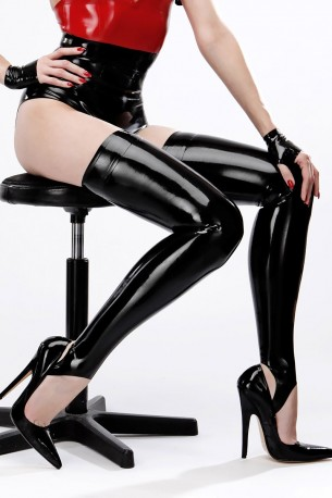 Basic Latex Stirrup Stockings
