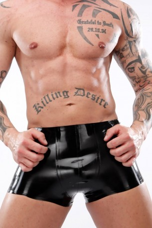 Basic Latex Shorts without Zipper