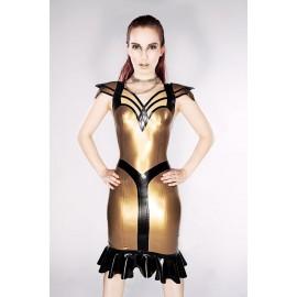Nofretete Latex Kleid