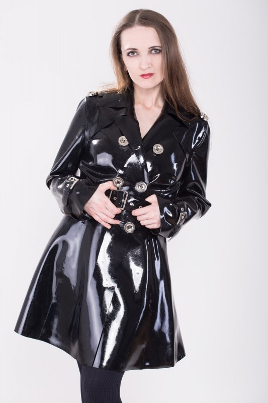 Latex Trench Coat Deluxe Savage Wear