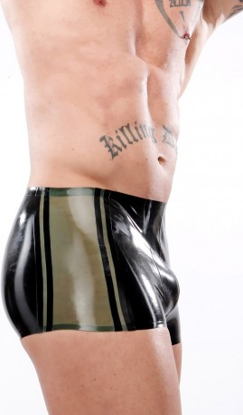 Side Panel Latex Shorts