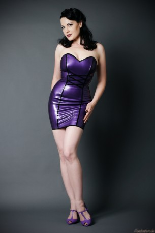 Naughty Snow White Latex Dress