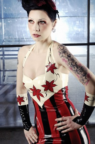 Poisonous Lillies Latex Armstulpen