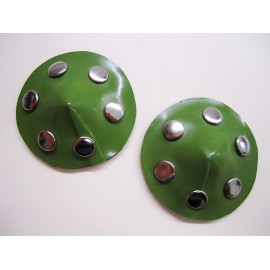 Latex Pasties with Rivets
