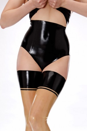 Latex Hotpants mit hoher Taille