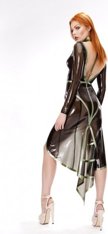 Latex Harness Gown