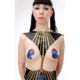 Sacred Scarab Latex Pasties