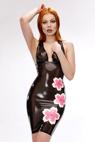 Cherry Blossom Latex Kleid