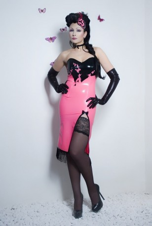 Splotches Latex Dress