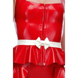 Latex Bow Belt