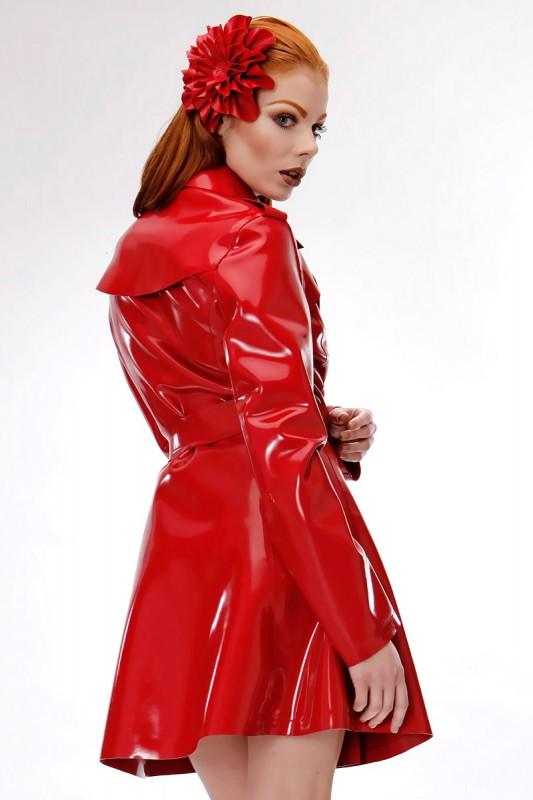Latex Trench Coat Basic Savage Wear