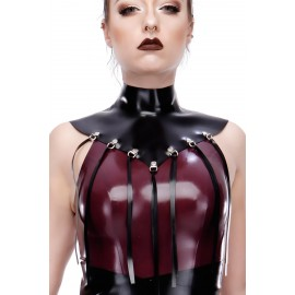 Maryann Fringed Latex Collar