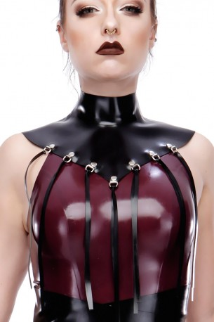 Maryann Latex Collar mit Fransen