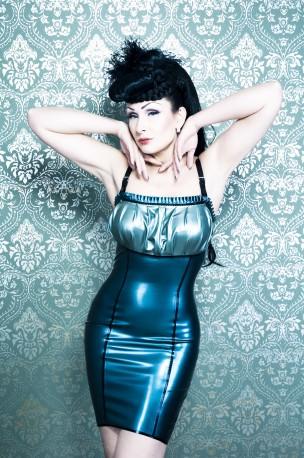 Victorian Copper Latex Dress