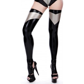Morgana Toeless Latex Stockings