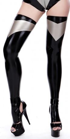 Morgana Zehenlose Latex Stockings