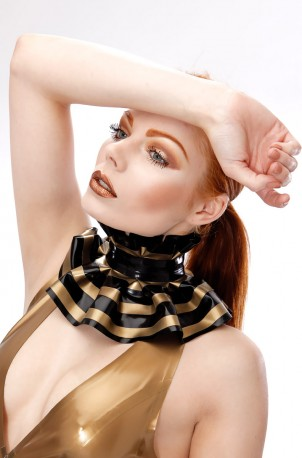 Striped Victorian Latex Collar