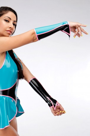 Bella Powers Latex Gauntlets