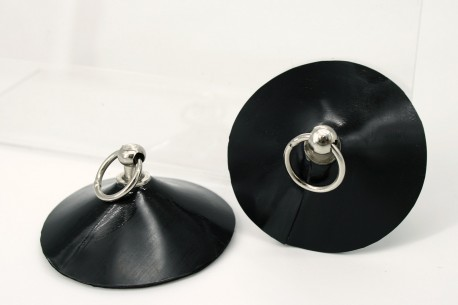 Round Latex Pasties with Ring of O