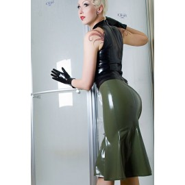60s Latex Skirt Basic