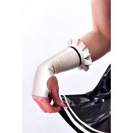 Dienstmädchen Latex Arm Gauntlets