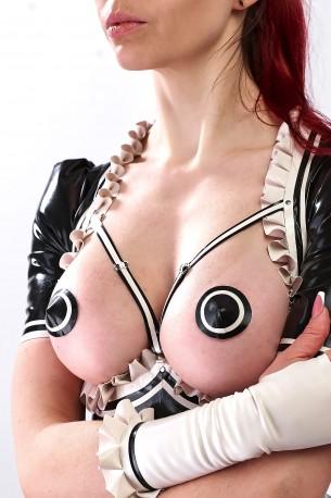 French Maid Latex Pasties