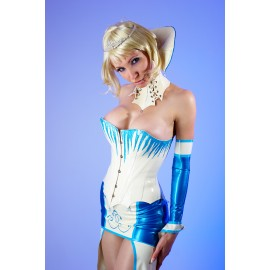 Ice Queen Latex Corset