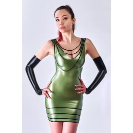 Collier Latex Dress
