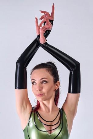 Fingerlose Latex Armstulpen
