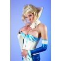 Ice Queen Latex Neck Corset