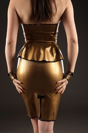 Mademoiselle Lily Latex Skirt