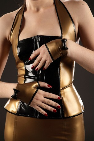 Mademoiselle Lily Latex Mittens