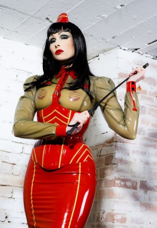 Military Latex Bluse