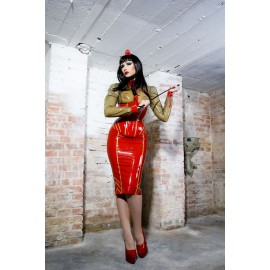 Military Latex Skirt