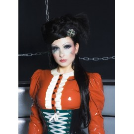 Dampfpunk Latex Bluse