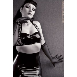 Pin-Up Leo Latex Oberteil