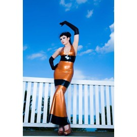 Baltic Sunset Latex Gown
